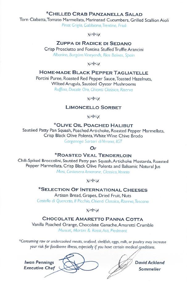 Italian Chef's Table